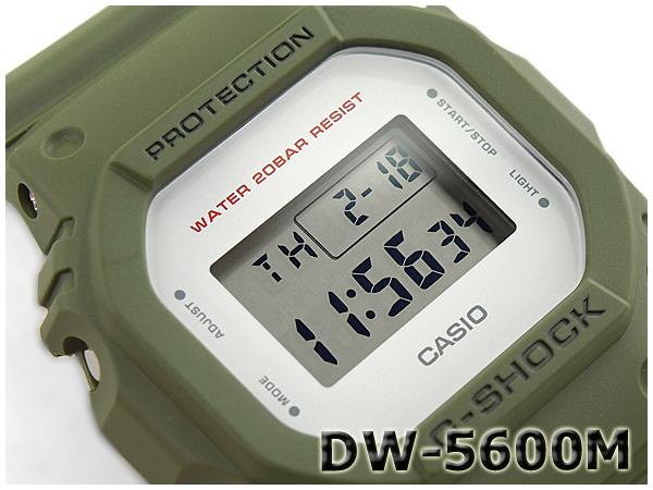 "G-休克 G 休克""5600 系列凱西歐凱西歐軍事系列數位手錶卡其色綠色 DW-5600 米-3CR 的 DW-5600 米-3"