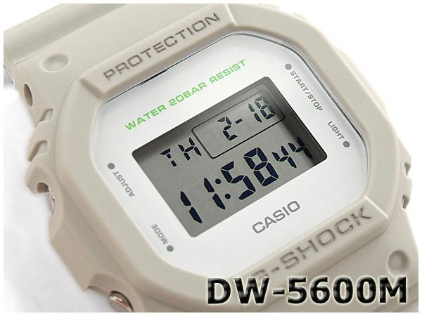 "G-休克 G 休克""5600 系列凱西歐凱西歐軍事系列數位手錶卡其色米色 DW-5600 米-8CR 的 DW-5600 米-8"