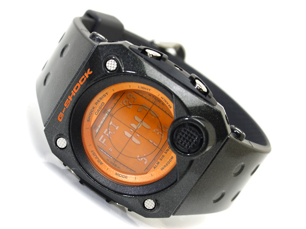 + Casio G shock advanced design overseas model C3 digital watch Orange LCD dial lame style black urethane belt g-8000B-4