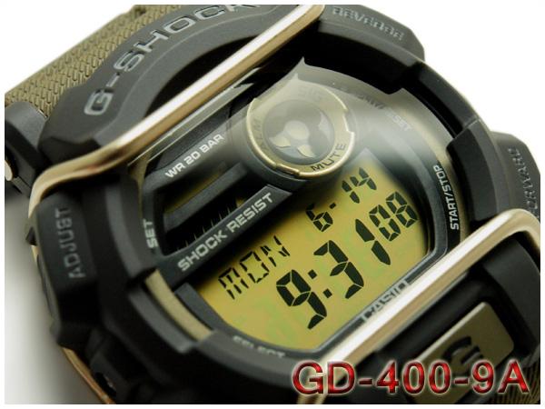 凱西歐 g 衝擊西歐 G 衝擊重新導入外國模型數位手錶卡其 GD-400-9 博士