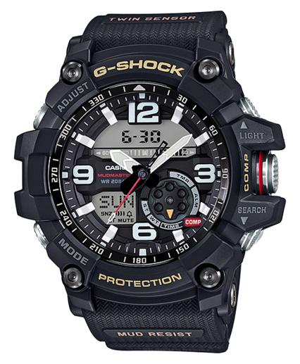 凱西歐凱西歐 g 衝擊凱西歐 G 休克 MUDMASTER 瘋狂大師大師的 G 大師 G 雙感應器的超級照明類比數位手錶黑色 GG-1000年-1AJF GG-1000年-1 A