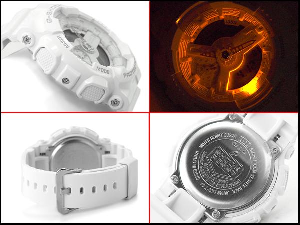 """G-震撼 G 衝擊""""凱西歐凱西歐有限模型 S 系列 S 系列類比數位手錶全白 GMA S 110 釐米 7 A1CR GMA-S 110 釐米 — — 7A1"""