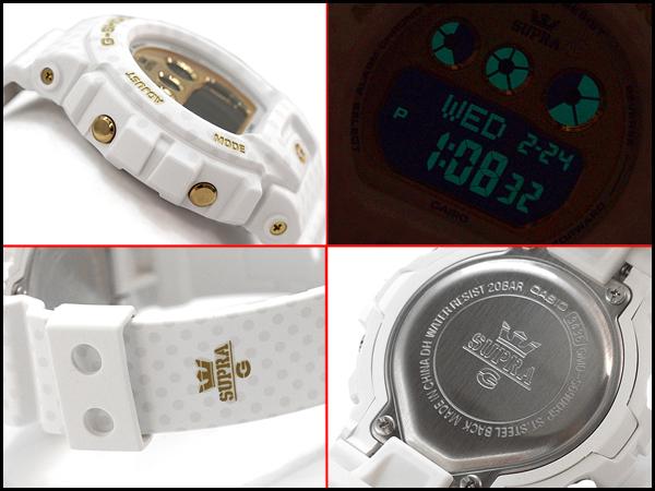 "G-休克 G 休克""上文上文限量版模型 S 系列凱西歐凱西歐手錶白色黃金點模式 GMD-S6900SP-7CR GMD-S 6900SP-7"