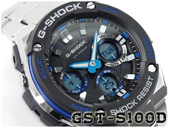 42ecd13de G-SUPPLY: Casio G shock G steel G-STEEL CASIO g-shock solar an analog- digital men's watch black blue silver GST-S 100D-A2CR 1 GST-S 100D-1 A 2 |  Rakuten ...