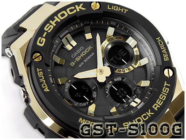 カシオ Gショック Gスチール CASIO G-SHOCK G-STEEL ソーラー アナデジ メンズ 腕時計 ブラック ゴールド GST-S100G-1ACR GST-S100G-1A【あす楽】