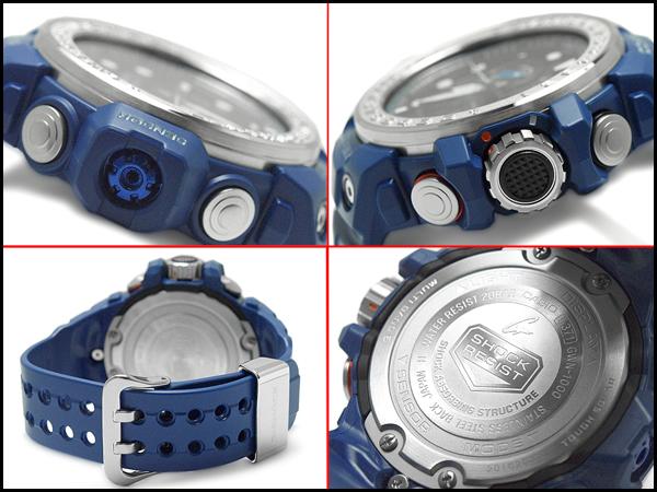 凱西歐 g 休克 GULFMASTER 凱西歐 G 衝擊海灣大師進口海外模型類比數位無線電太陽能收音機手錶男裝手錶藍色 GWN-1000年-2ADR GWN-1000年-2 A