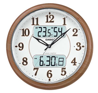 CASIO CLOCK カシオ クロック 壁掛け時計 掛時計 電波 野鳥のさえずりアラーム フルブライト夜見えライト機能 カレンダー表示 ホワイト 木目調 ITM-900FLJ-5JF【国内正規モデル】