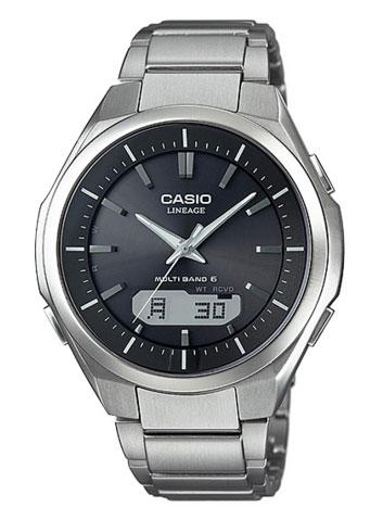 カシオ CASIO LINEAGE リニエージ MULTIBAND6 アナログ ソーラー 電波 腕時計 シルバー ブラック メタルベルト LCW-M500TD-1AJF LCW-M500TD-1A 【国内正規モデル】