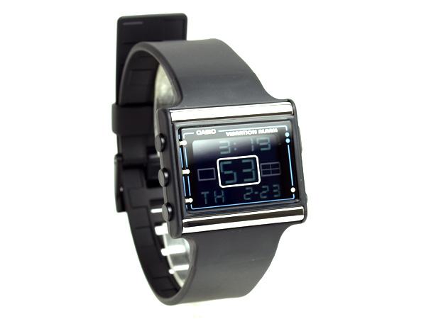 カシオポップトーンバイブアラーム deployment Lady's watch black clockface black urethane foreign countries model LDF-10-1A fs3gm