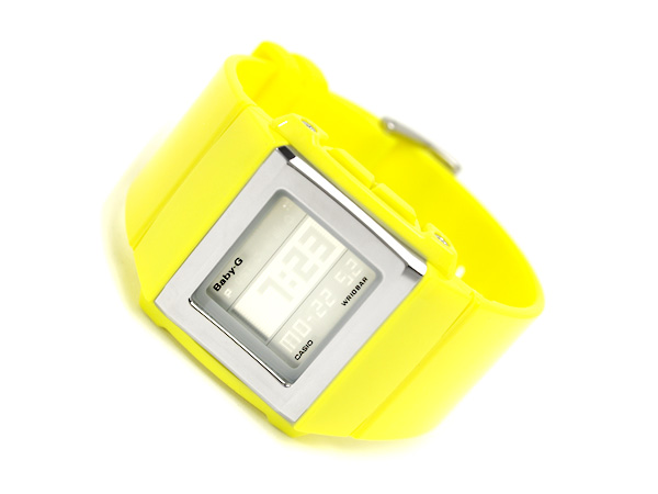 Casio baby G imports overseas model digital Watch series white CASKET SLIM flip LCD lemon yellow gloss stock urethane belt BG-2001-9