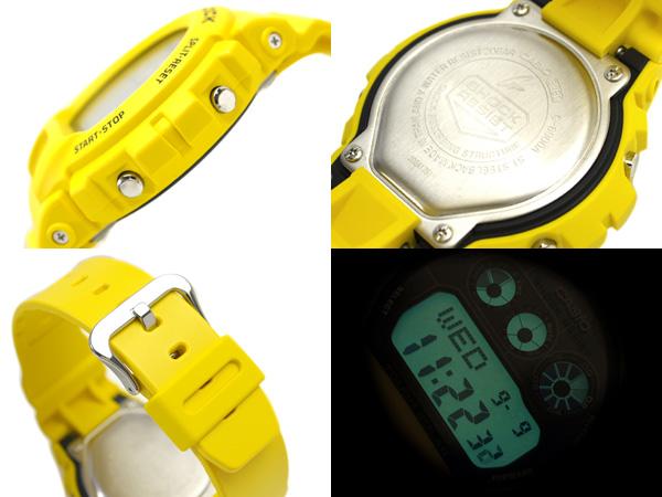 Casio G shock solar digital watch black dial white Crystal yellow urethane belt g-6900A-9