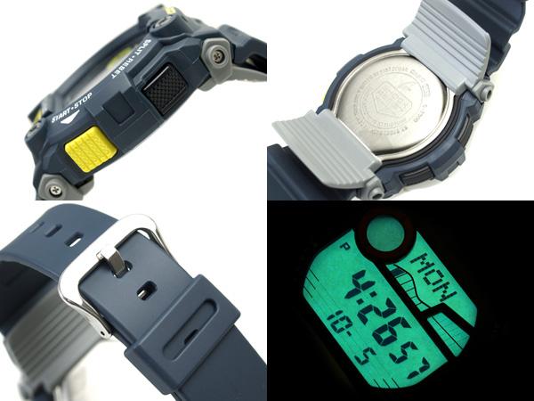 未卡西歐G打擊日本開始銷售彩色海外型號灰色藍色×黄色尿烷皮帶數碼手表G-7900-2DR