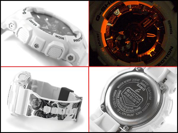 """G-休克 G 衝擊 g 衝擊 G 震撼 g 衝擊 G 衝擊""""凱西歐凱西歐有限的模型 S 系列 S 系列反海外模型類比數位手錶玫瑰圖案白色 GMA-S110F-7A"""
