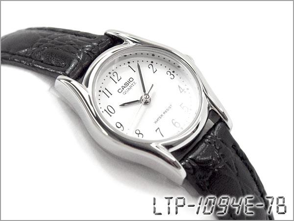 3252fb3ae15 G-SUPPLY  CASIO LTP-1094E-7BRDF CASIO watch White Dial black leather belt