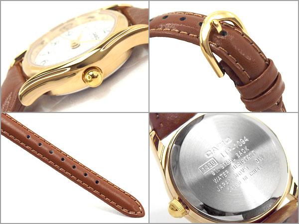 凱西歐 LTP-1094Q-7B8RDF 凱西歐手錶黃金案例白色錶盤棕色皮帶