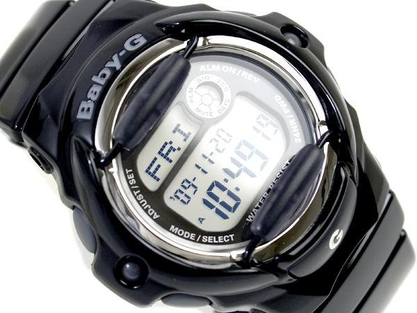 + Casio baby G overseas monopoly model ladies digital watch black dial black enamel urethane belt BG-169R-1