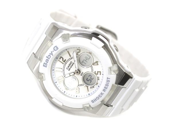 CASIO Baby-Gカシオ ベビーG 海外専売Model Lady'sアナデジWrist watch WhiteDial WhiteUrethaneBelt BGA-110-7B