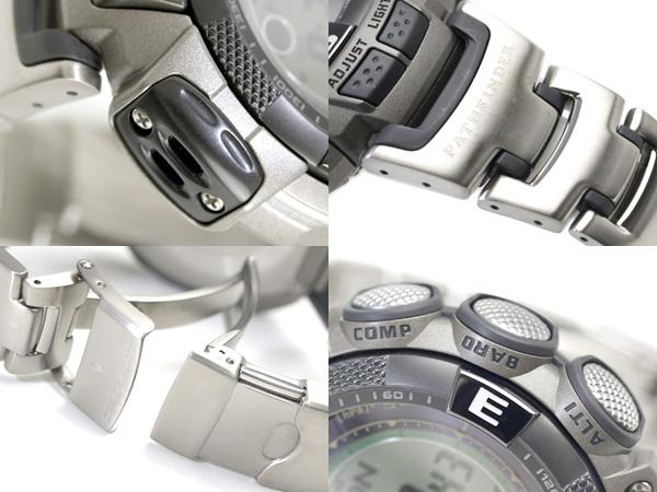 Casio foreign countries monopoly model Pathfinder digital watch multi-field line silver X black titanium belt PAW-1500T-7VCR