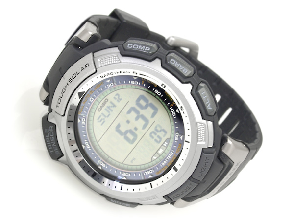 And protrek tough solar triple sensor with digital watch black urethane belts overseas model PRG-110-1