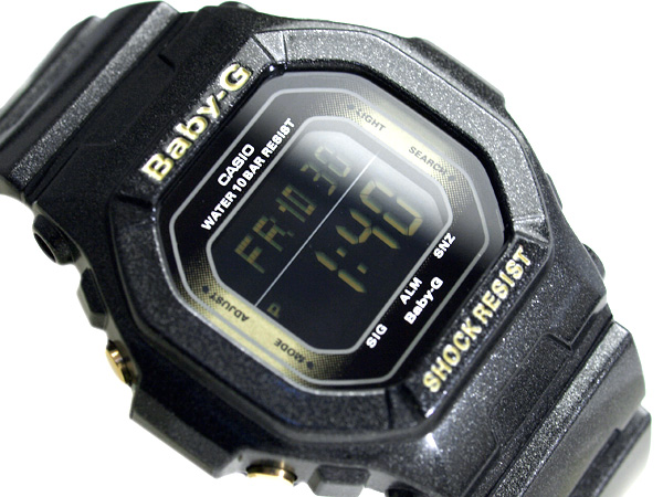 Casio baby G imports overseas model メタリックカラーズ digital watch black LCD black urethane belt BG-5605SA-1