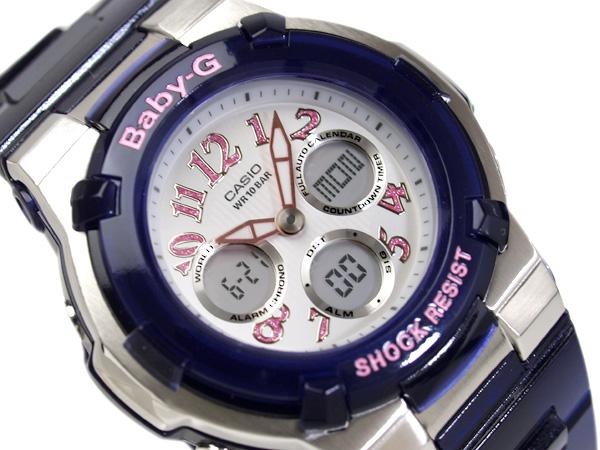 CASIO Baby-Gカシオ ベビーG 逆輸入海外Model Lady'sデジタルWrist watch SilverDial×Pink SkeletonNavyUrethaneBelt BGA-114-2B