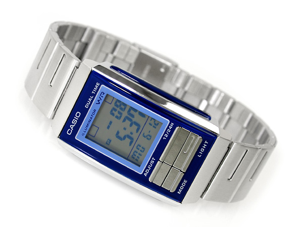 Overseas model Casio Futurist ladies digital watch Navy x Combi color light blue light blue dial LA-201W-2A