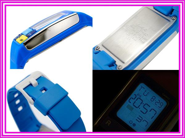+ Casio ポップトーン international model ladies Digital Watch Blue urethane belt LDF-50-2DR