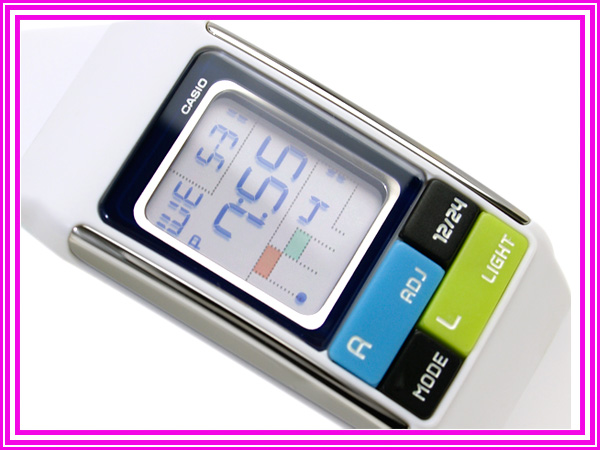 Casio ポップトーン international model ladies digital watch white urethane belt LDF-50-7DR