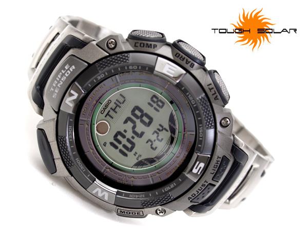 + Casio protrek tough solar overseas model digital outdoor watch Titan belt PRG-130T-7 V