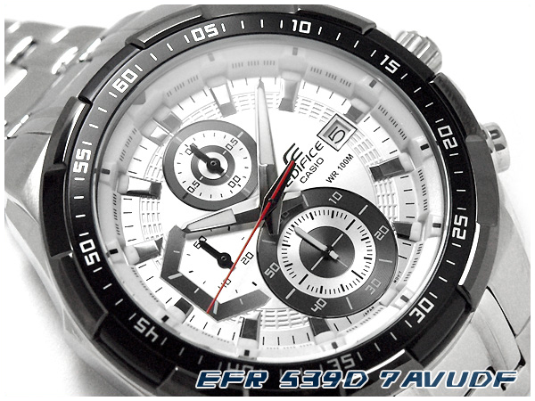 【CASIO EDIFICE】カシオ 海外モデル EFR-539D-7AVUDF エディフィス アナログ メンズ腕時計 クロノグラフ 海外モデル ホワイトダイアル エディフィス シルバーステンレスベルト EFR-539D-7AVUDF, SHOWA ヘルスケア Online Shop:4f563959 --- officewill.xsrv.jp