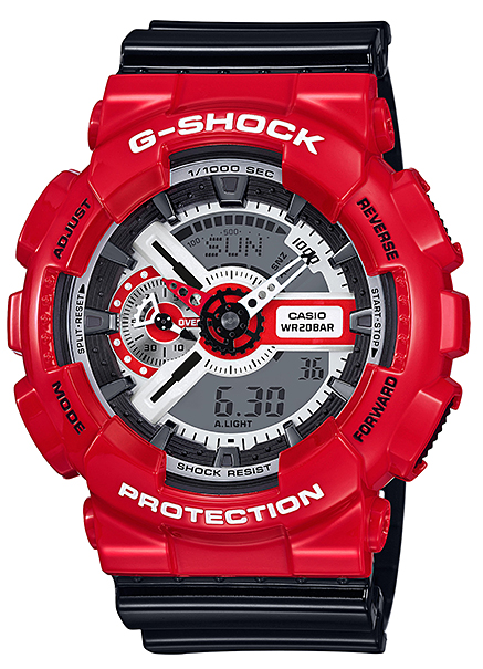 撫摩G-SHOCK G打擊CASIO尺或二手錶紅黑色GA-110RD-4AJF