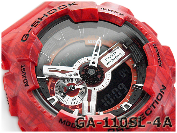 GA-110SL-4ACR G-SHOCK G 충격 지 쇼크 gshock 카시오 CASIO 아날로그-디지털 시계 레드 GA-110SL-4A