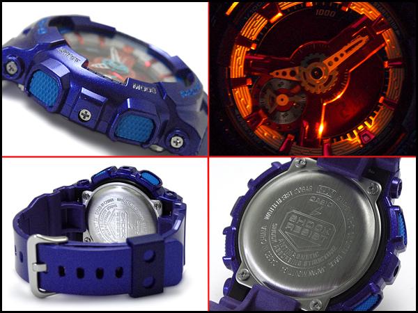 """凱西歐 g 震撼凱西歐 G 衝擊""""限量版模型 S 系列 S 系列進口海外模型類比數位手錶粉紅色紫色藍色 GMA S110HC 2AER 的甲基丙烯酸縮水甘油酯-S110HC-2A"""