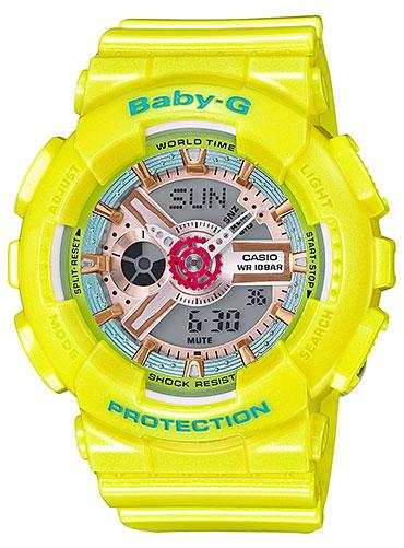 カシオ CASIO BABY-G ベビーG アナデジ レディース 腕時計 イエロー BA-110CA-9AJF 国内正規品