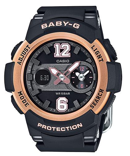 凱西歐凱西歐寶貝寶貝-g G 類比數位女式手錶黑金 BGA-210-1BJF 定期國內