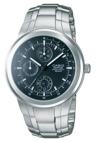 凱西歐大廈凱西歐大廈類比手錶銀色黑色 EF-305 D-1AJF 國內常規產品