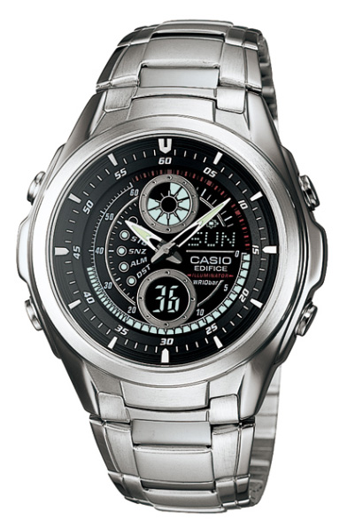5591e81e2ea8 Casio EDIFICE CASIO edifice analog Watch Silver Black EFA-116-1 A1JF  regular domestic