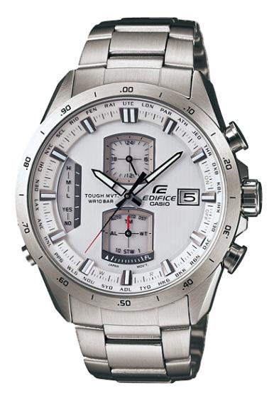 卡西歐CASIO EDIFICE edifisu電波太陽能手錶銀白色EQW-A1100D-7AJF國內正規的物品