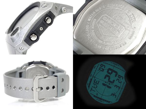 Casio G-Shock advanced design foreign countries model C3 digital watch cool blue liquid crystalline gray silver lam-like urethane belt G-8000-8