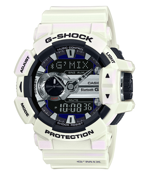 1c47770dc4f Casio G shock CASIO g-shock limited Bluetooth SMART-enabled smartphones  collaboration model G   MIX an analog-digital watch white black GBA-400-7CJF
