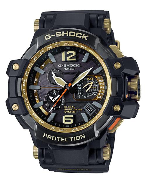 카시오 G 쇼크 グラビティマスター CASIO G-SHOCK 제한 GPS 하이브리드 전파 솔 러 전파 시계 남자 시계 블랙 골드 GPW-1000GB-1AJF