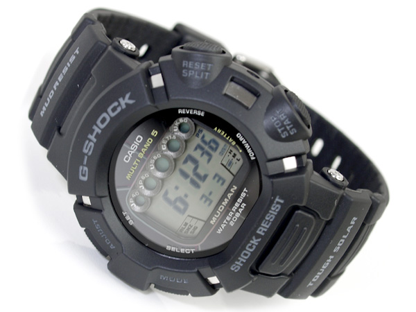 + Japan unreleased G shock madman solar radio digital watch gray black urethane resin belt GW-9000A-1