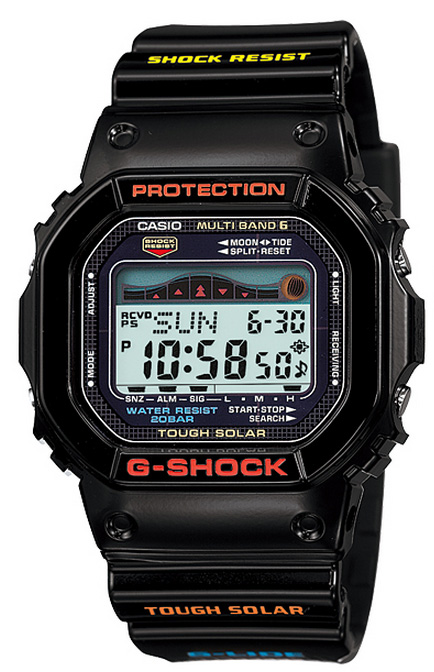 凱西歐凱西歐 g-休克-立德 G 衝擊 6600 G 騎波太陽能手錶黑色 WX-5600-1JF 國內常規產品
