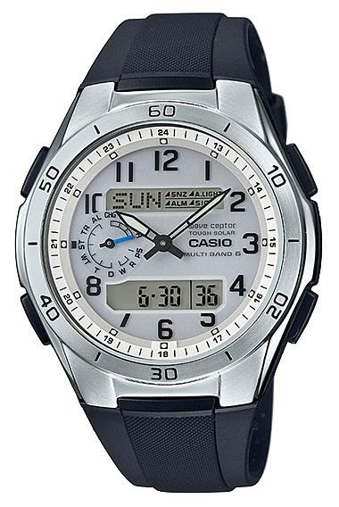 b354ad85b Casio CASIO wave ceptor Waveceptor solar signal an analog-digital Watch  Silver Black WVA-