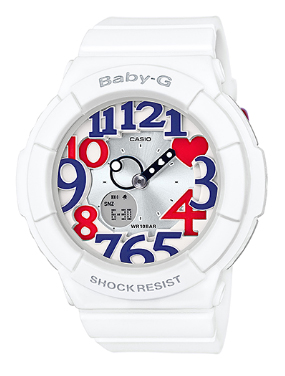 b1f0c36005ca G-shock baby G Casio CASIO baby-g white and tricolor series ladies an analog -digital watch white red blue BGA-130TR-7BJF BGA-130TR-7B