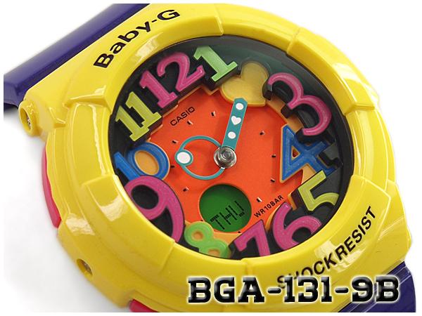 CASIO BABY-G Crazy Neon Series クレイジーネオンシリーズ 逆輸入海外モデル カシオ ベビーG アナデジ 腕時計 イエロー パープル BGA-131-9BDR BGA-131-9B