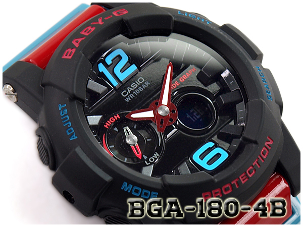 105ca63ea G-SUPPLY: CASIO BABY-G Crazy G-LIDE G ride reimportation foreign countries  model Casio baby G アナデジ watch black red BGA-180-4BDR BGA-180-4B | Rakuten  ...