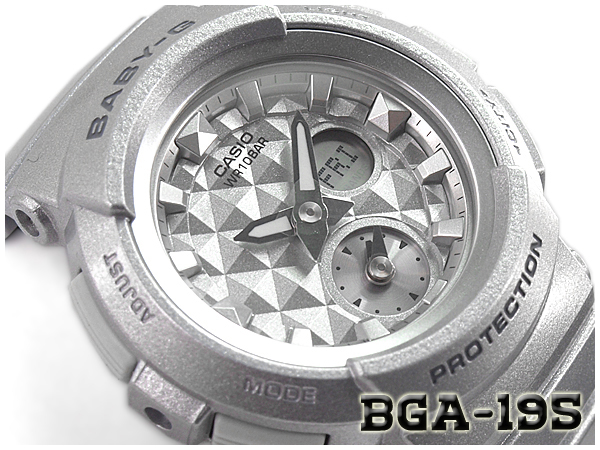 4da1bdfdc269e Baby G Baby-G ベビージー reimportation foreign countries model STUDS DIAL SERIES  studs dial series Casio CASIO アナデジ watch silver BGA-195-8ACR BGA-195-8A