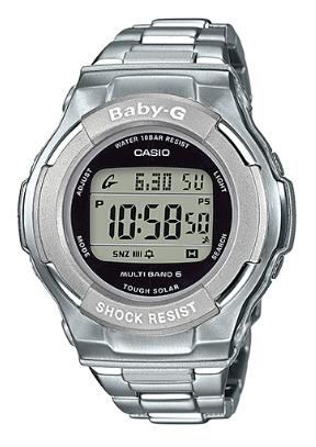 寶貝 g 嬰兒照顧凱西歐凱西歐波太陽射電觀看數位手錶銀 BGD-1300 D-7JF