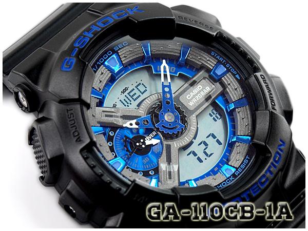 online store 4b4db 48f3a G-SUPPLY  G-shock G shock gshock Casio CASIO an analog-digital watch shock  resistance structure shock resist blue black GA-110CB-1ACR GA-110CB-1A    Rakuten ...